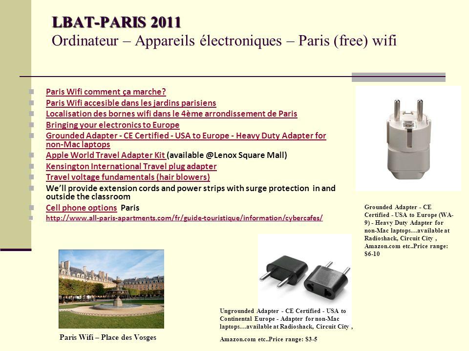 LBAT-PARIS 2011 LBAT-PARIS 2011 Ordinateur – Appareils électroniques – Paris (free) wifi Paris Wifi comment ça marche.
