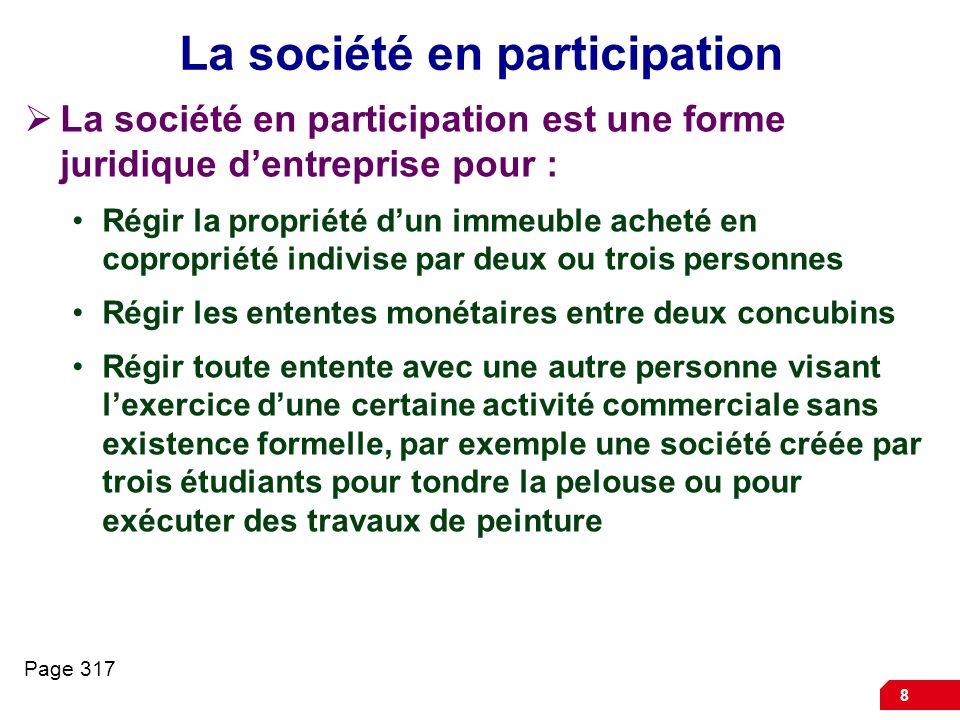 9 Lassociation Lassociation est la forme juridique dentreprise utilisée principalement par un regroupement de personnes qui conviennent de poursuivre un but commun autre que la réalisation de bénéfices pécuniaires à partager entre les membres de lassociation.