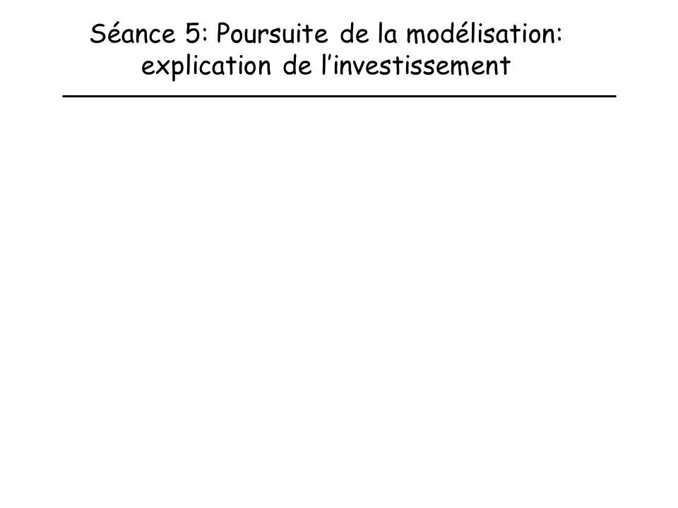 Séance 5: Poursuite de la modélisation: explication de linvestissement