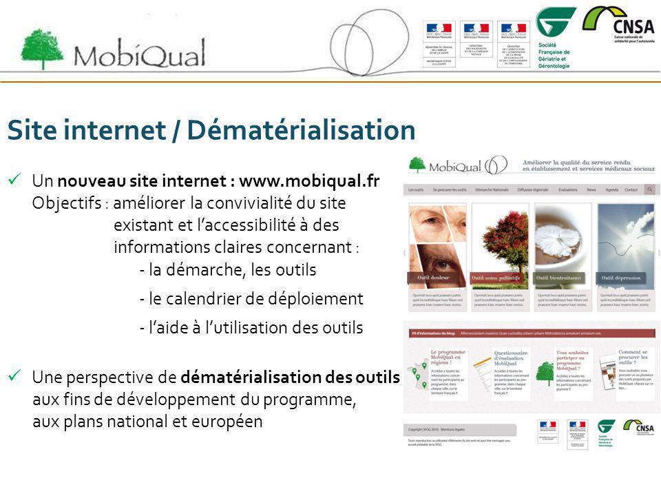 Site internet / Dématérialisation Un nouveau site internet : www.mobiqual.fr Objectifs : améliorer la convivialité du site existant et laccessibilité