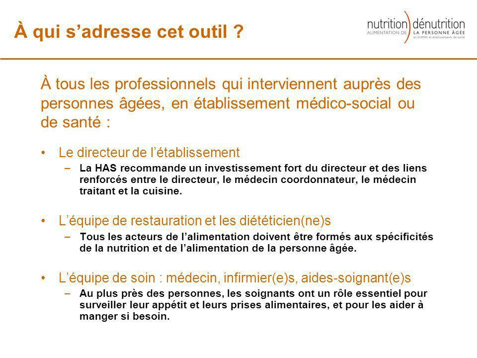 À tous les professionnels qui interviennent auprès des personnes âgées, en établissement médico-social ou de santé : Le directeur de létablissement –L