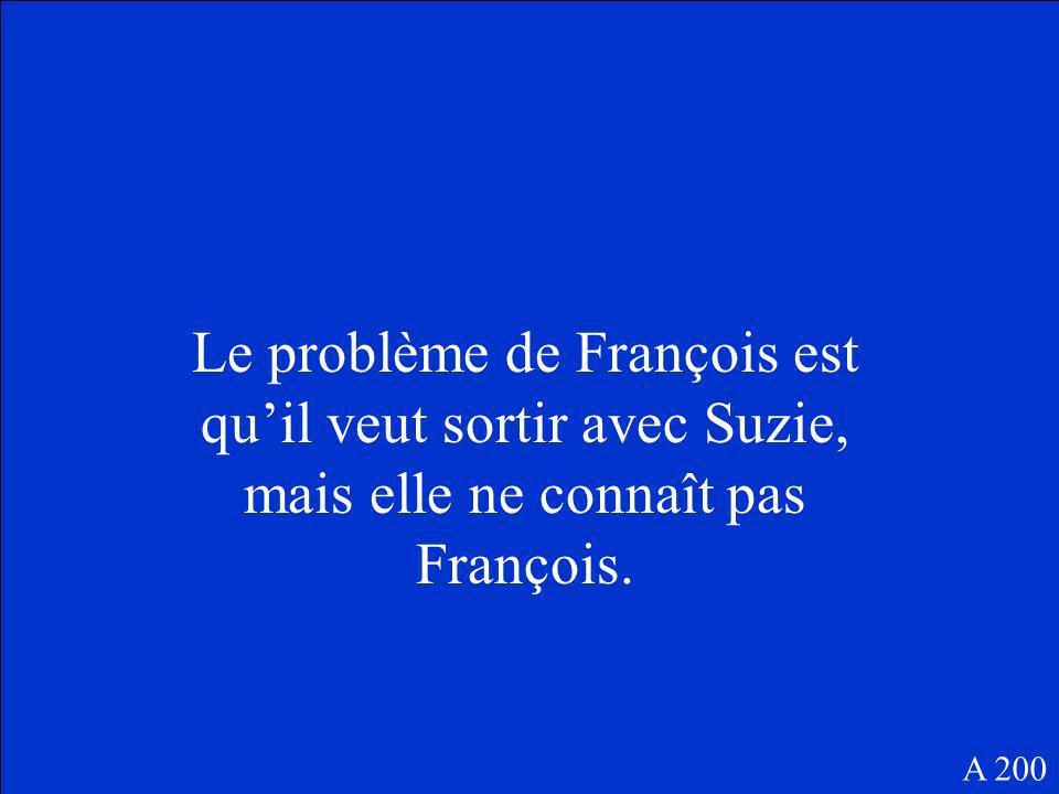 Quelle est le problème de François A 200