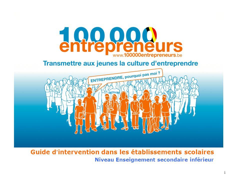 22 Crédits Textes et illustrations tous droits réservés 100 000 Entrepreneurs 2, rue de Monceau – 75008 Paris.