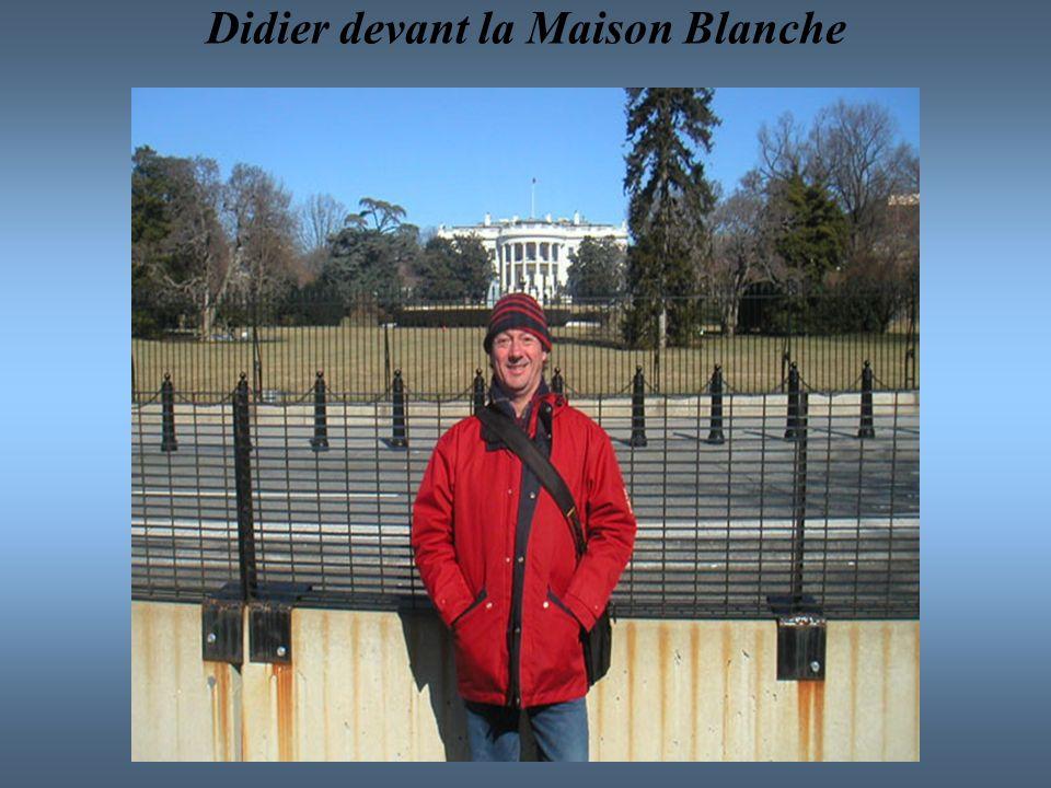 Didier devant la Maison Blanche