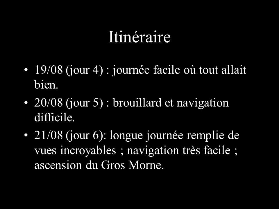Itinéraire 19/08 (jour 4) : journée facile où tout allait bien.