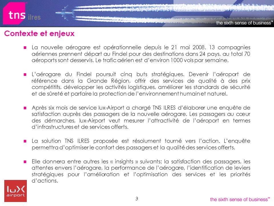 3 La nouvelle aérogare est opérationnelle depuis le 21 mai 2008. 13 compagnies aériennes prennent départ au Findel pour des destinations dans 24 pays,
