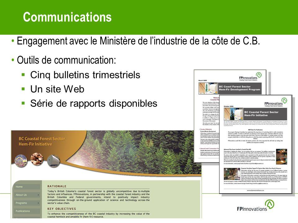 Communications Engagement avec le Ministère de lindustrie de la côte de C.B.