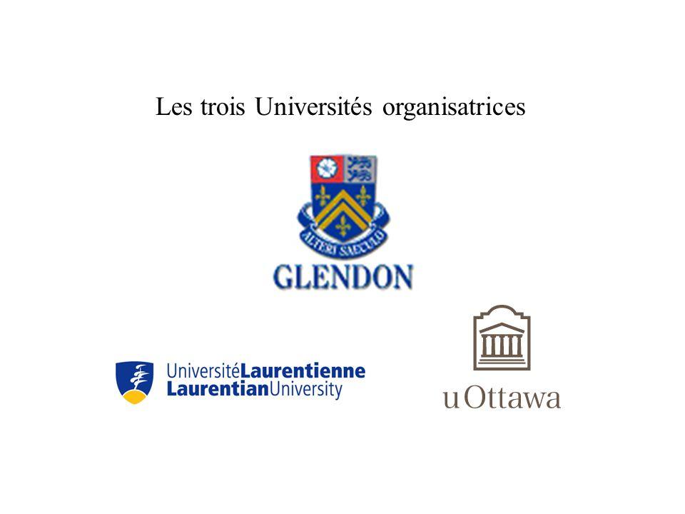 Les trois Universités organisatrices