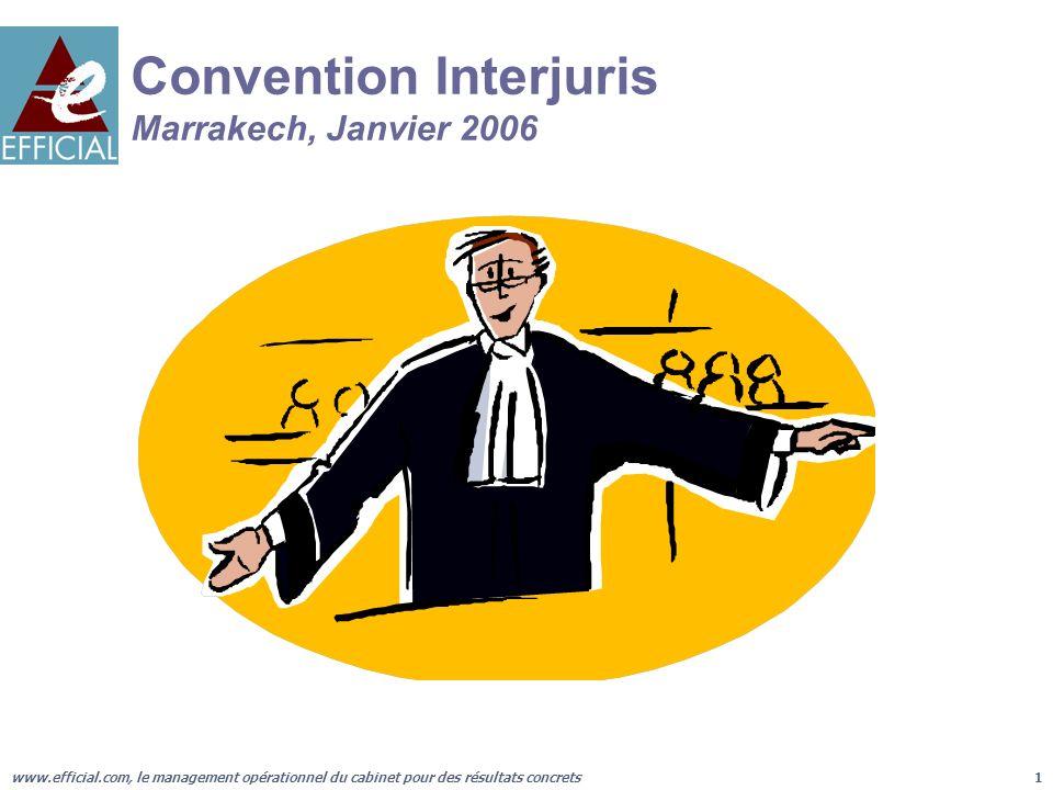 www.efficial.com, le management opérationnel du cabinet pour des résultats concrets1 Convention Interjuris Marrakech, Janvier 2006