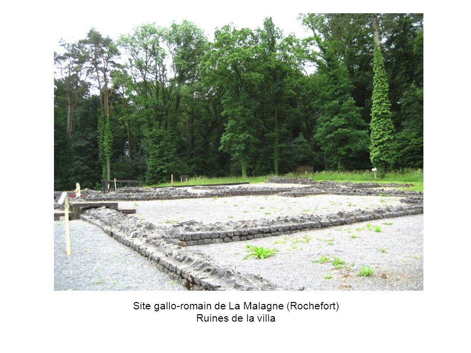 Site gallo-romain de La Malagne (Rochefort) Ruines de la villa