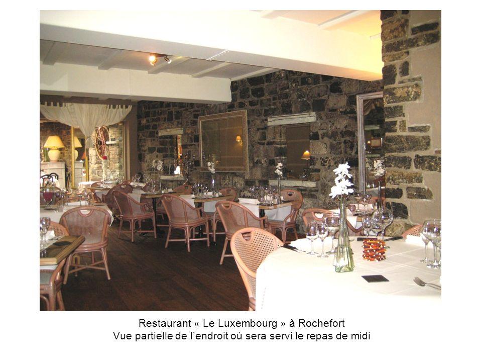 Restaurant « Le Luxembourg » à Rochefort Vue partielle de lendroit où sera servi le repas de midi