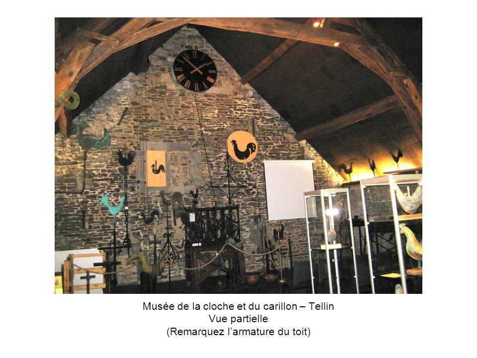 Musée de la cloche et du carillon – Tellin Vue partielle (Remarquez larmature du toit)
