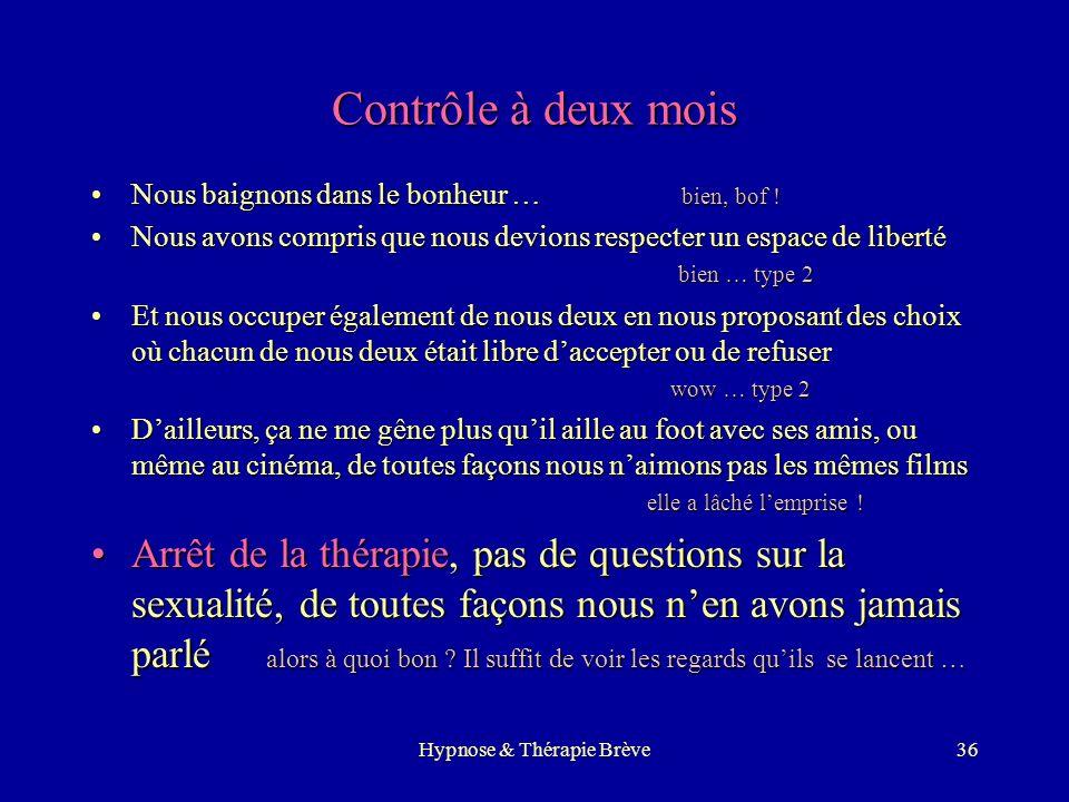 Hypnose & Thérapie Brève35 Séance avec Mme & Mr Induction sur un souvenir agréable communInduction sur un souvenir agréable commun Puis chacun lévoque