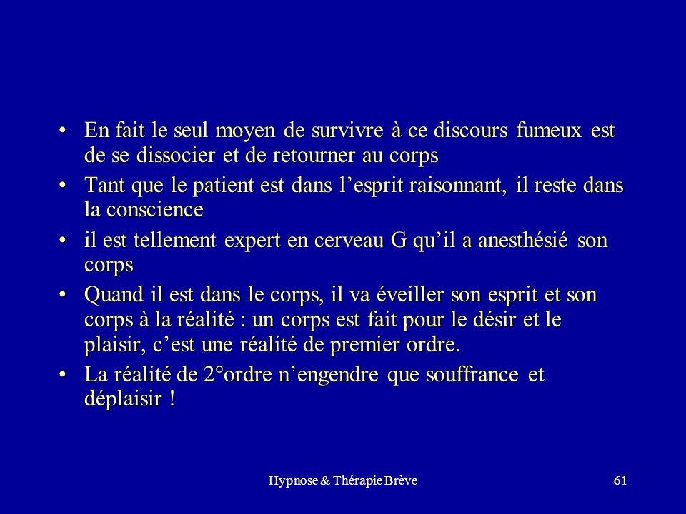 Hypnose & Thérapie Brève60 Un exemple simple ? Et pendant que votre esprit conscient écoute attentivement les mots que je prononce, avez-vous remarqué