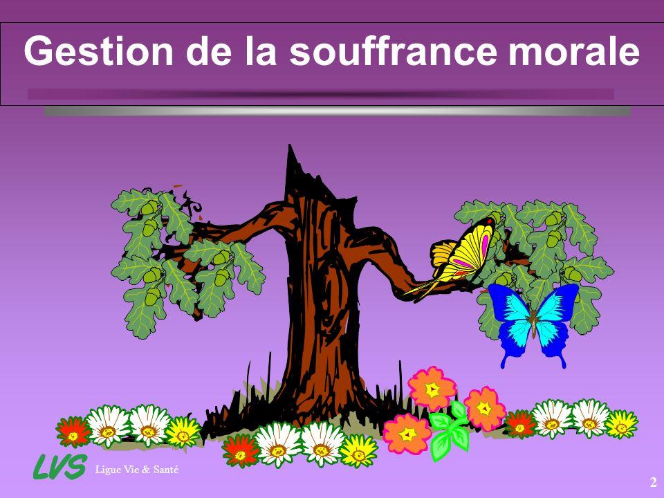 Ligue Vie & Santé 2 Gestion de la souffrance morale