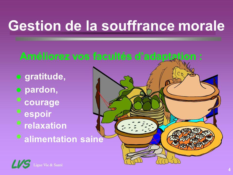 Ligue Vie & Santé 5 Gestion de la souffrance morale Exercices dassouplisement, LA RELAXATION Tension - Détente, Relaxation profonde.