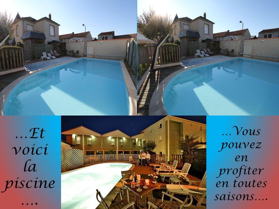 …Et voici la piscine …. …Vous pouvez en profiter en toutes saisons….