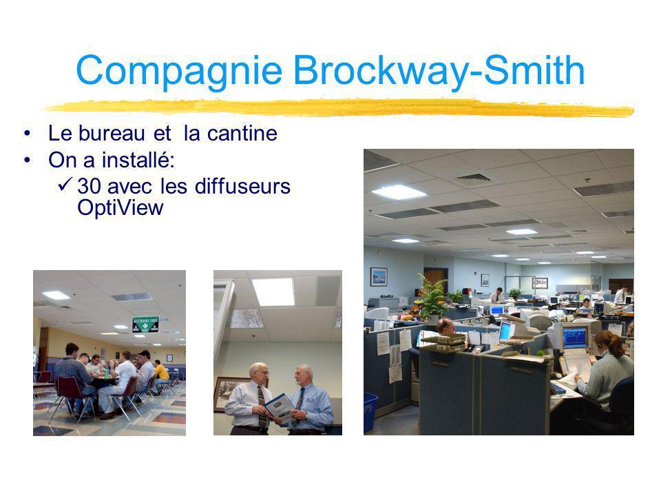 Compagnie Brockway-Smith Le bureau et la cantine On a installé: 30 avec les diffuseurs OptiView