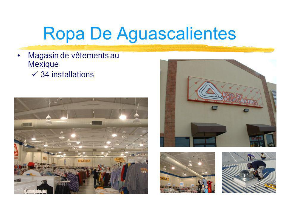 Ropa De Aguascalientes Magasin de vêtements au Mexique 34 installations