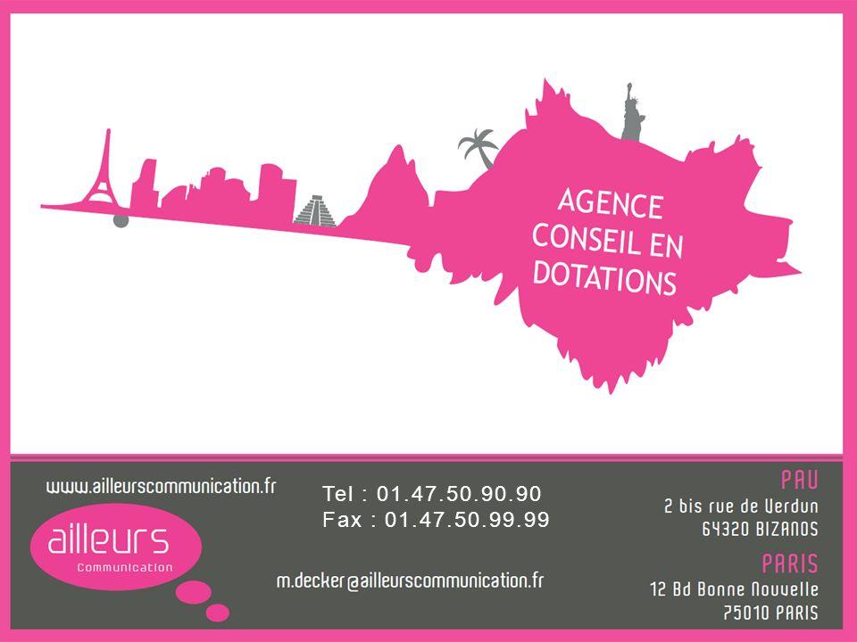 Agence Les Envahisseurs Tel : 01.47.50.90.90 Fax : 01.47.50.99.99