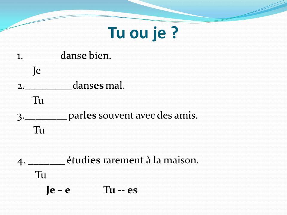 Nous ou Vous.1._______habitons en France.