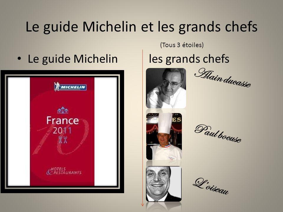 Le guide Michelin et les grands chefs Le guide Michelin les grands chefs Alain ducasse Paul bocuse Loiseau (Tous 3 étoiles)