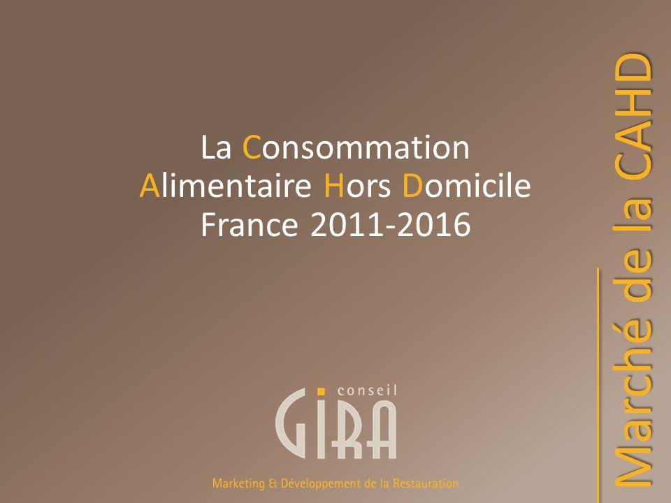 La Consommation Alimentaire Hors Domicile France 2011-2016 Marché de la CAHD