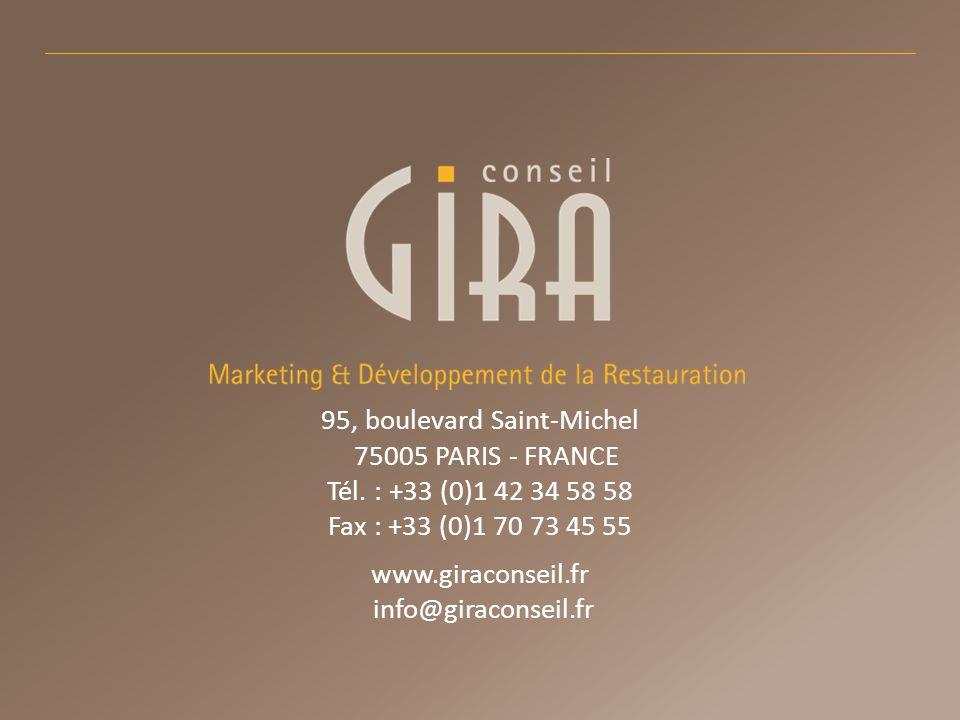 95, boulevard Saint-Michel 75005 PARIS - FRANCE Tél. : +33 (0)1 42 34 58 58 Fax : +33 (0)1 70 73 45 55 www.giraconseil.fr info@giraconseil.fr