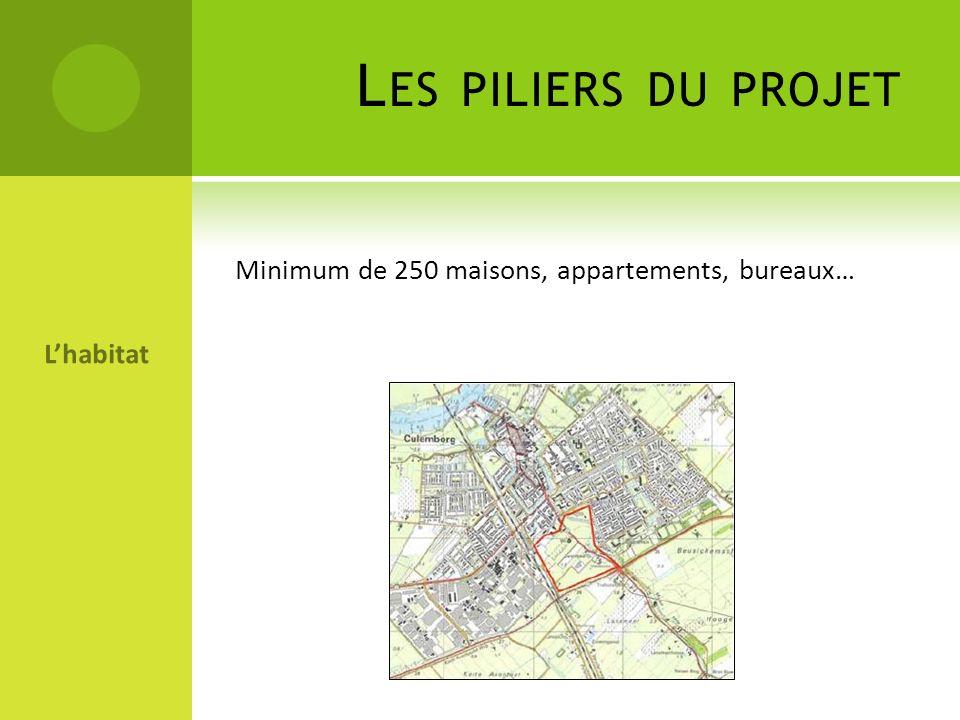 L ES PILIERS DU PROJET Lhabitat Minimum de 250 maisons, appartements, bureaux…