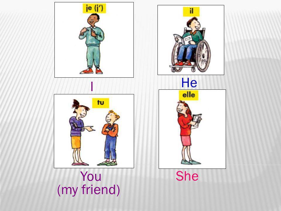 I You (my friend) He She
