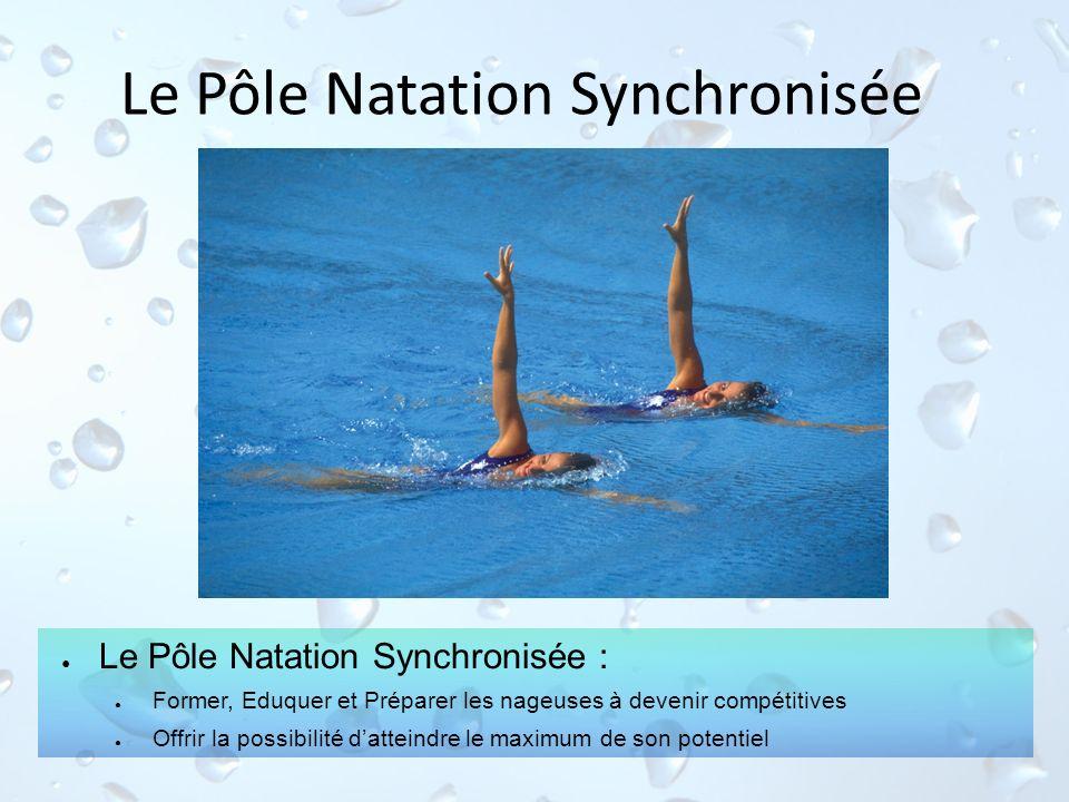 Le Pôle Natation Synchronisée Le Pôle Natation Synchronisée : Former, Eduquer et Préparer les nageuses à devenir compétitives Offrir la possibilité da