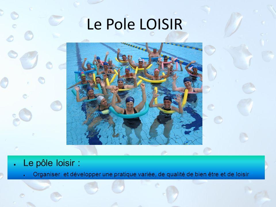 Le Pole LOISIR Le pôle loisir : Organiser et développer une pratique variée, de qualité de bien être et de loisir