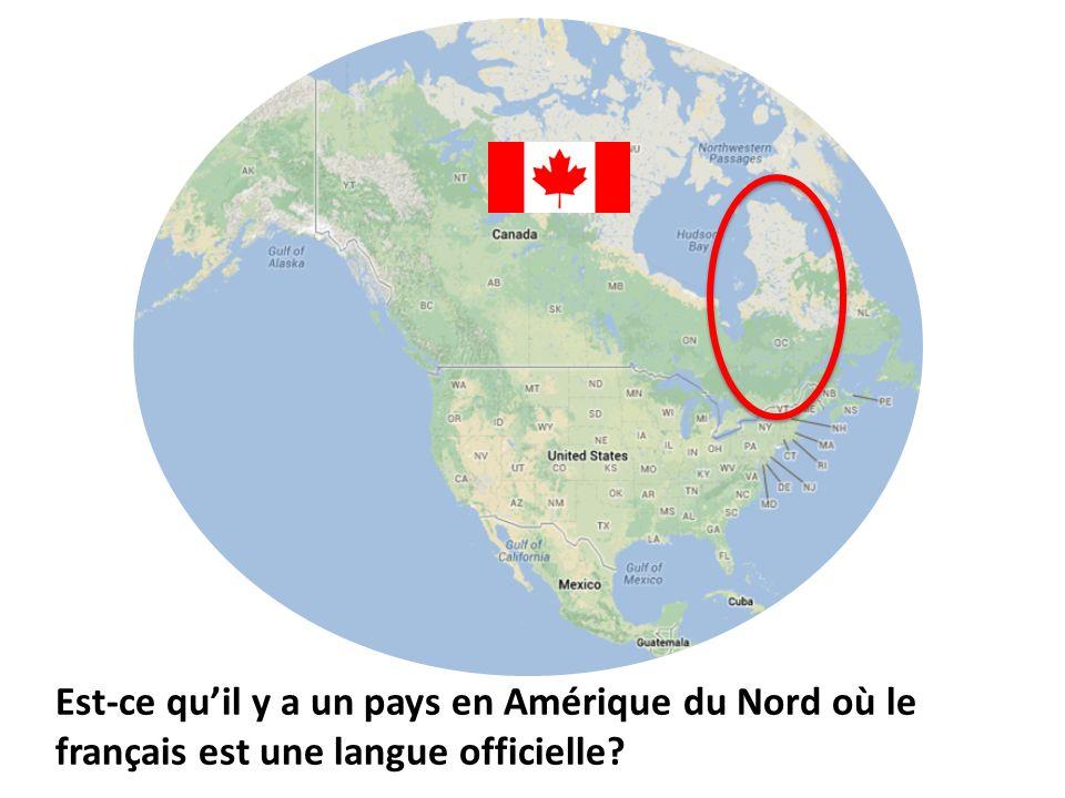 Est-ce quil y a un pays en Amérique du Nord où le français est une langue officielle?