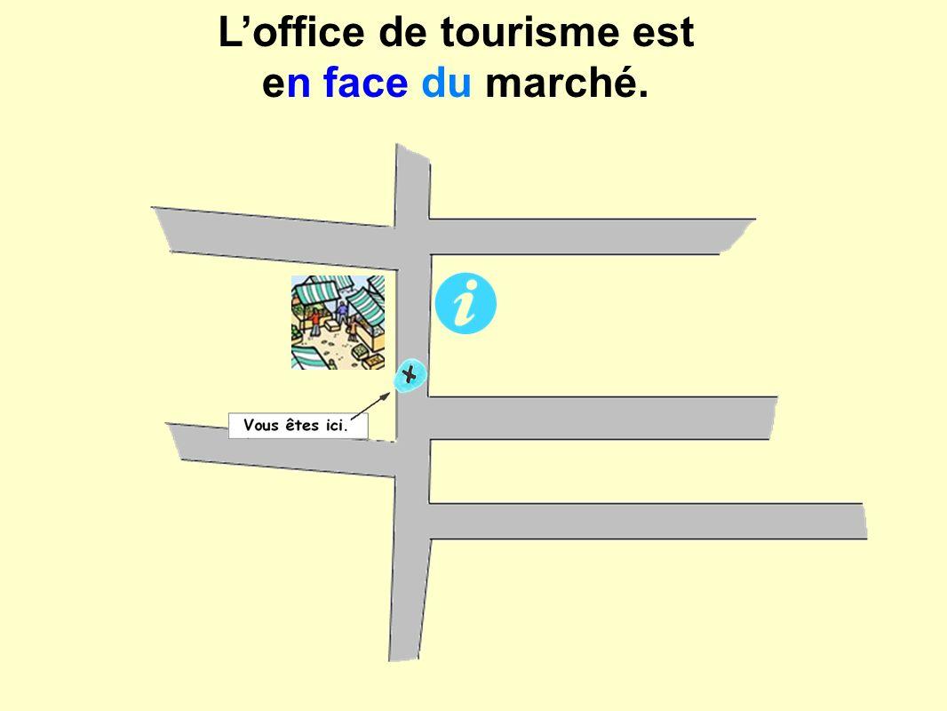 Loffice de tourisme est en face du marché.