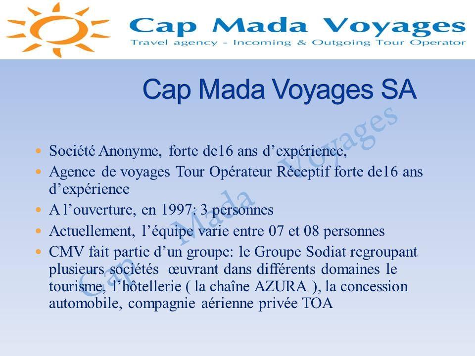 TOP: Association des Tours Opérateurs Réceptifs de Madagascar AAVM: Association des Agences de Voyage de Madagascar IATA: International Air Transport Association ATAF: Association des Transporteurs Aériens de la zone Franc