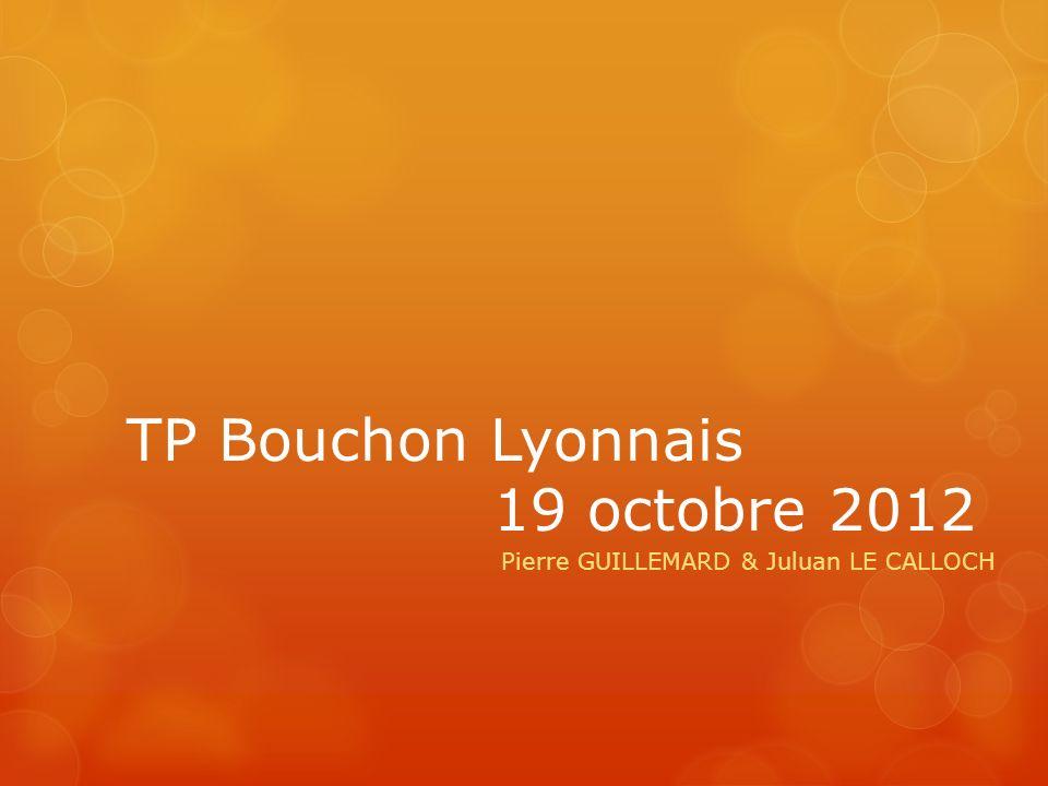 TP Bouchon Lyonnais 19 octobre 2012 Pierre GUILLEMARD & Juluan LE CALLOCH