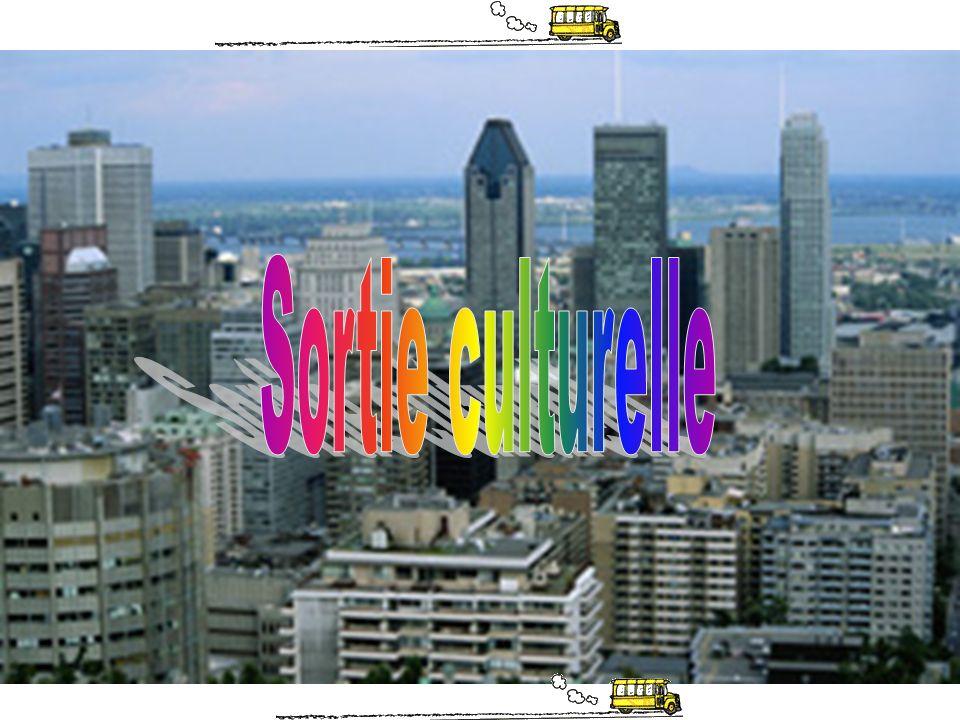 Sortie culturelle Date: –Mardi 30 avril (groupes excellence) –Mercredi 1 er mai (groupes excellence.tic) Toute la journée: de 9h à 14h50 Objectif: –Découvrir une communauté culturelle de Montréal Activité qui sintègre dans le cadre des cours de culture du monde, déthique et danglais Travail à réaliser pour le cours danglais