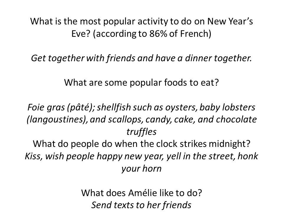 _______ truffes au chocolat ______ bûche de noel ______ fruits secs _____ fruits de mer ________ quiche _______ foie gras Instead of using dice, lets label the foods.