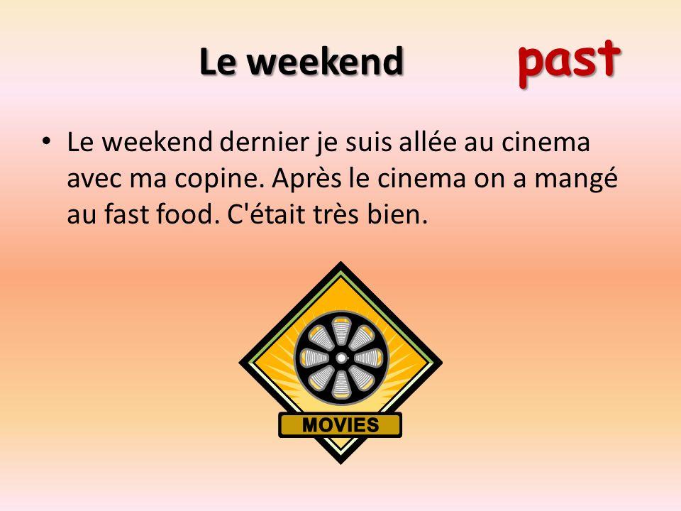 Le weekend past Le weekend dernier je suis allée au cinema avec ma copine.