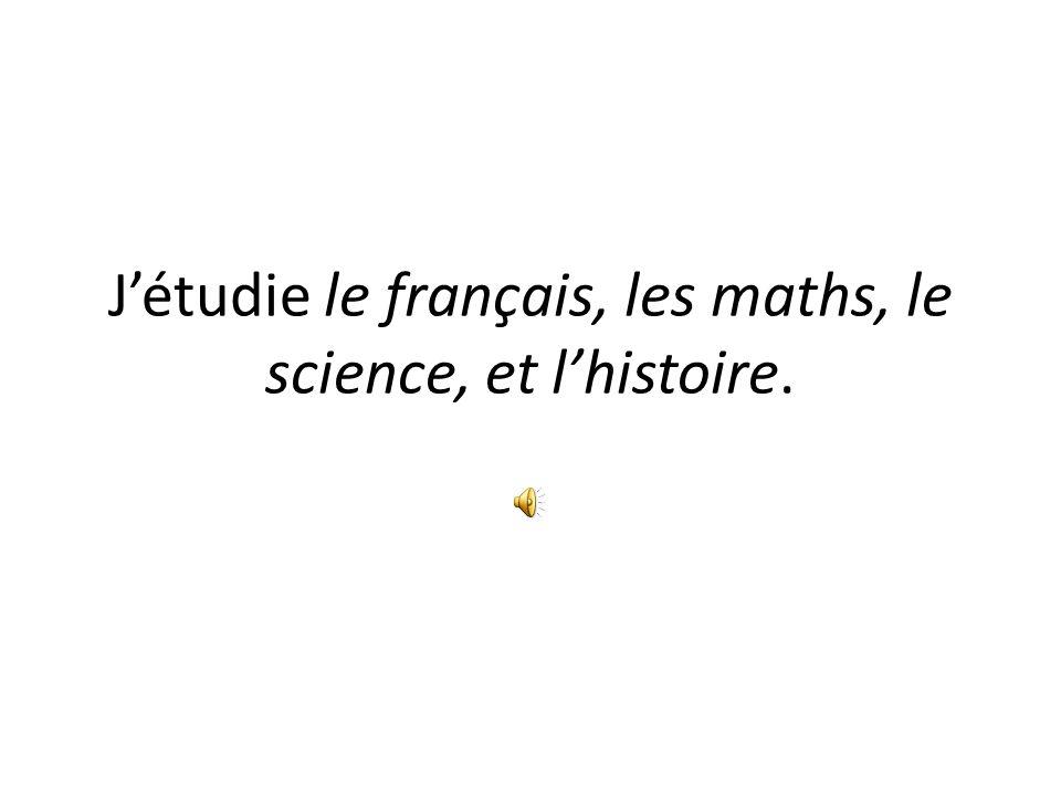 Je préfère la classe de français (etc)…