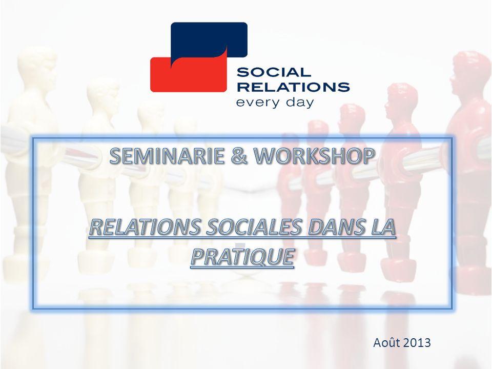 Les obligations de confidentialité de membres du CPP Les principes du CE sont également applicables aux membres du CPP Les organes de dialogue social CPP