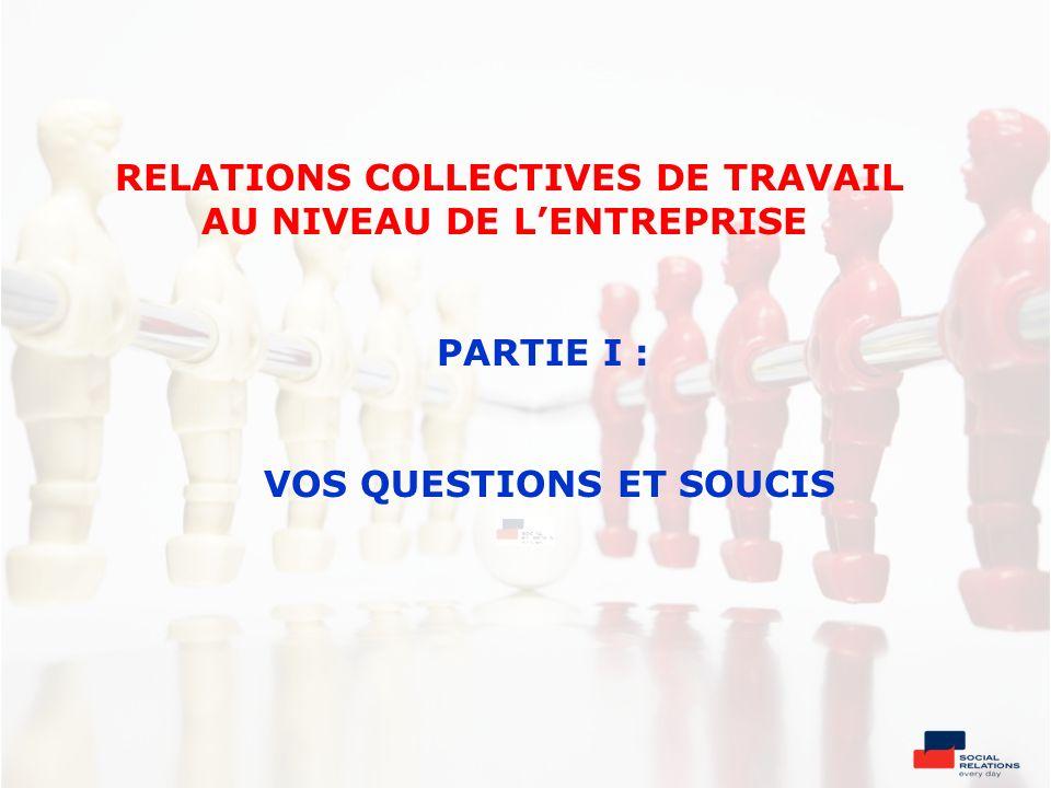 Missions d.Contrôle Application de la législation sociale Respect des CCT Application du règlement de travail Problèmes avec de contrats de travail individuels Les organes de dialogue social La délégation syndicale (DS)
