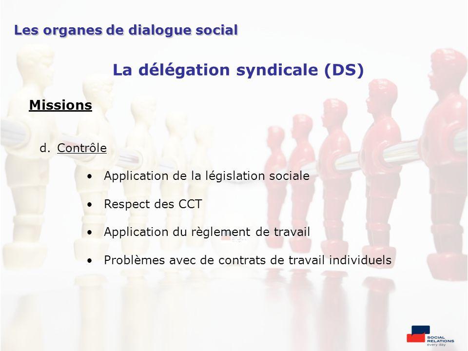 Missions d.Contrôle Application de la législation sociale Respect des CCT Application du règlement de travail Problèmes avec de contrats de travail in
