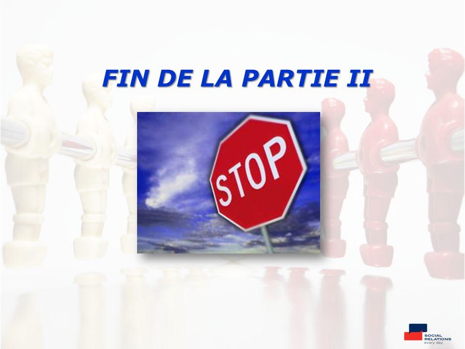 FIN DE LA PARTIE II