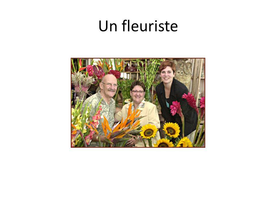 Un fleuriste
