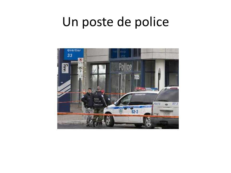 Un poste de police