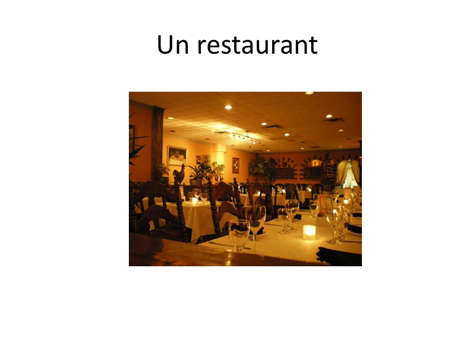 Un restaurant