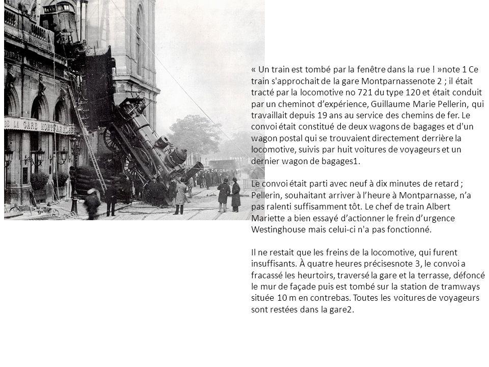 « Un train est tombé par la fenêtre dans la rue .