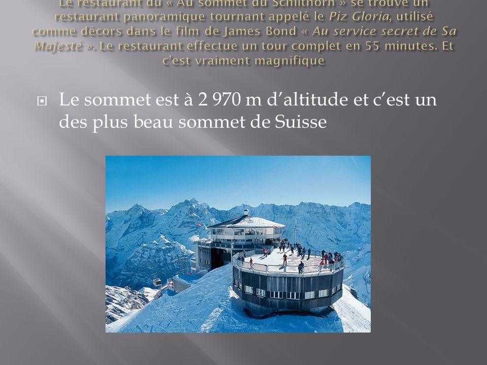 Le sommet est à 2 970 m daltitude et cest un des plus beau sommet de Suisse