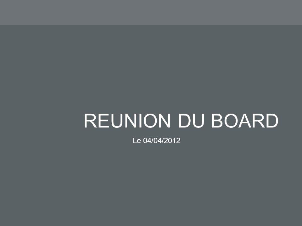 REUNION DU BOARD Le 04/04/2012